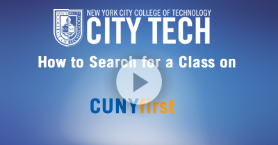 Search Class in CUNYfirst